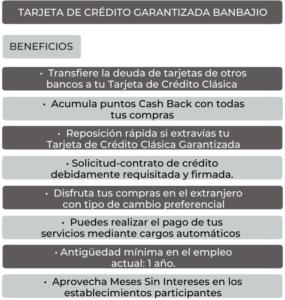 TARJETA DE CRÉDITO GARANTIZADA BANBAJIO